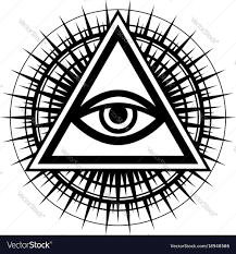 All-seeing eye the eye of providence Royalty Free Vector